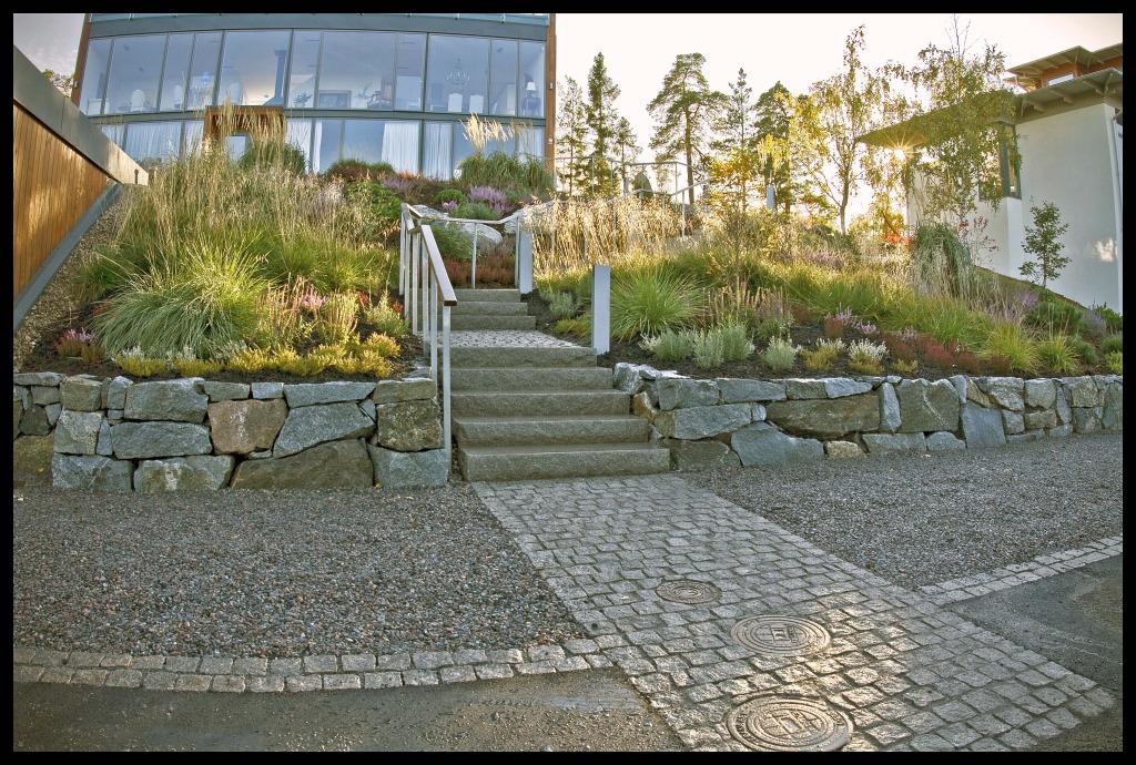 Trädgårdsanläggning, Villa Ekman